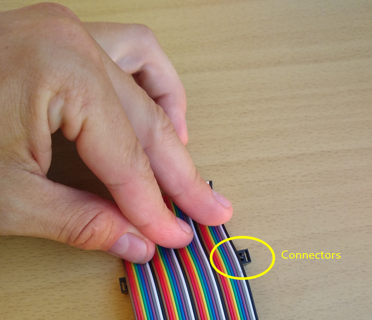 The 40-pin IDC cable is shorter than the connector meant for it, a fail of cheap Ebay products.